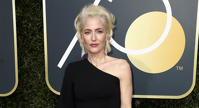 Gillian Anderson attends The 75th Annual Golden Globe Awards Jan. 7, 2018 in Beverly Hills (Frederick M. Brown/Getty Images)