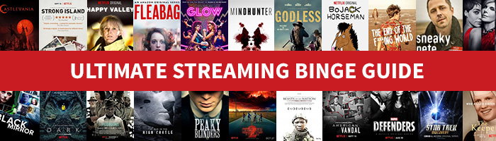 Streaming titles from Netflix, Hulu, CBS All Access, Amazon