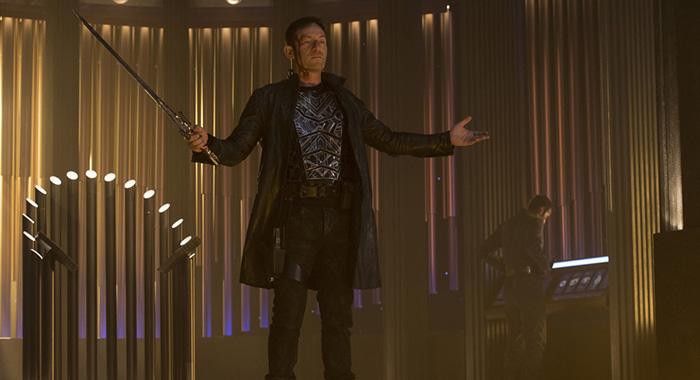 """What's Past Is Prologue"" -- Episode 113 -- Pictured: Jason Isaacs as Gabriel Lorca (Ben Mark Holzberg/CBS)"