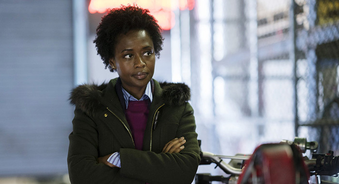"HAPPY! -- ""Year of the Horse"" Episode 104 -- Pictured: Medina Senghore as Amanda Hansen -- (Photo by: Peter Kramer/Syfy)"