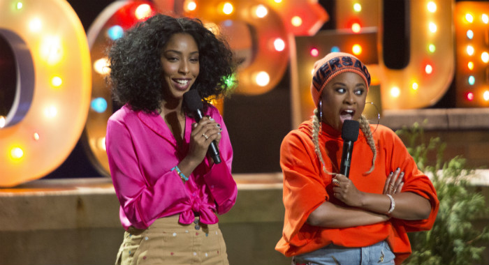 Jessica Williams and Phoebe Robinson in 2 Dope Queens (HBO)