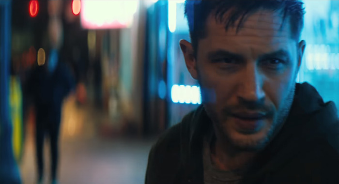 Tom Hardy in Venom teaser trailer screencap (Sony Pictures)