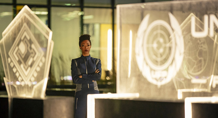 Sonequa Martin-Green as Michael Burnham of the CBS All Access series STAR TREK: DISCOVERY. (Jan Thijs/CB)
