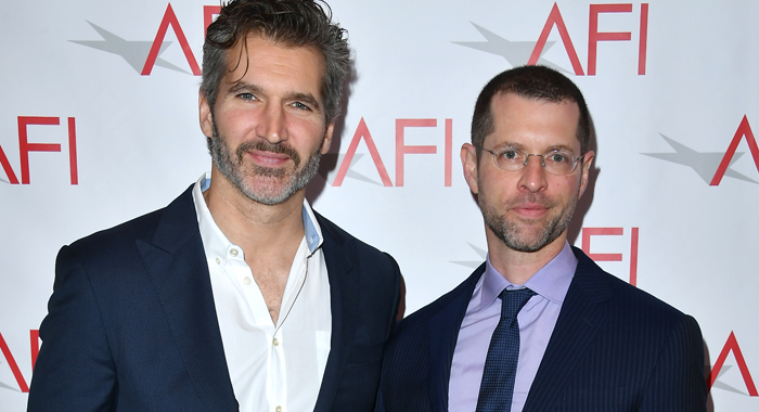 Writer/producers David Benioff (L) and D. B. Weiss attend the 17th annual AFI Awards at Four Seasons Los Angeles at Beverly Hills on January 6, 2017 in Los Angeles, California. (Photo by Steve Granitz/WireImage)