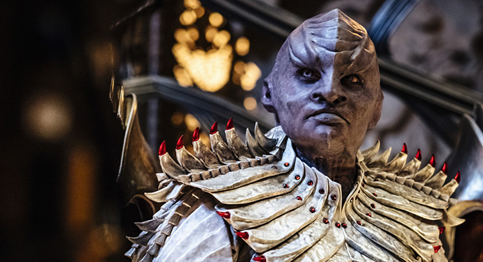 Mary Chieffo as L'Rell. STAR TREK: DISCOVERY (Jan Thijs/CBS)