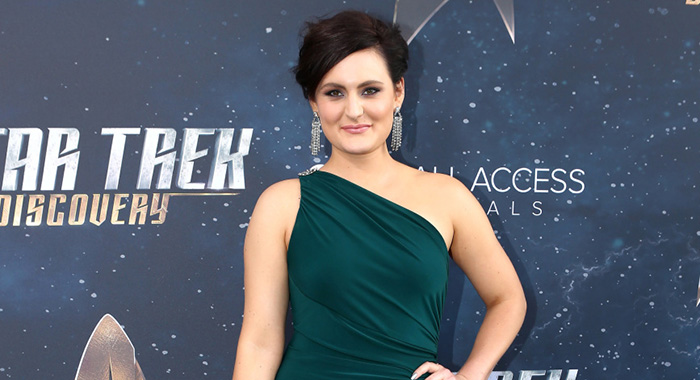 Mary Chieffo arrives on the Red Carpet for the STAR TREK: DISCOVERY premiere (Mark Davis/CBS)