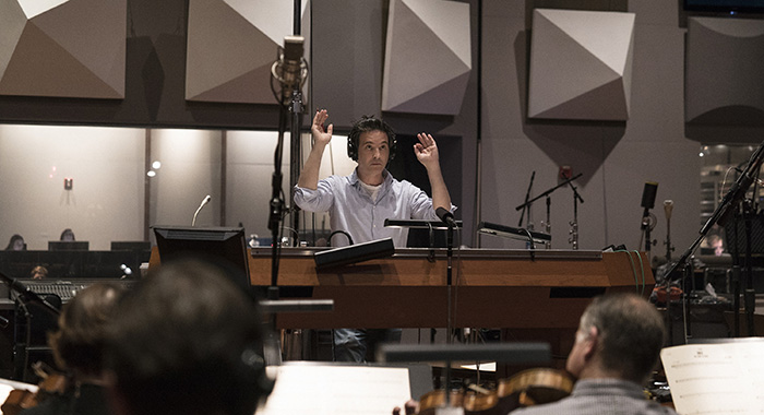 Composer Jeff Russo during STAR TREK: DISCOVERY scoring session January 15, 2018 in Los Angeles (Lisette M. Azar/CBS)