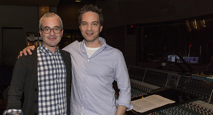 Executive Producer Alex Kurtzman and composer Jeff Russo during STAR TREK: DISCOVERY scoring session January 15, 2018 in Los Angeles (Lisette M. Azar/CBS)