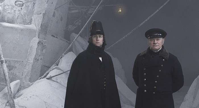 Tobias Menzies as James Fitzjames, Jared Harris as Francis Crozier - The Terror (Nadav Kander/AMC)