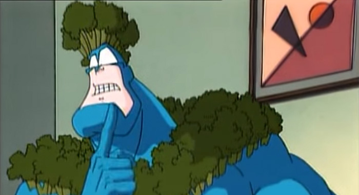 The Tick animated series screencap (Fox Kids)