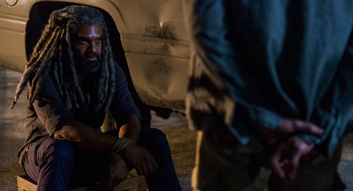 Khary Payton as Ezekiel - The Walking Dead _ Season 8, Episode 9 - Photo Credit: Gene Page/AMC