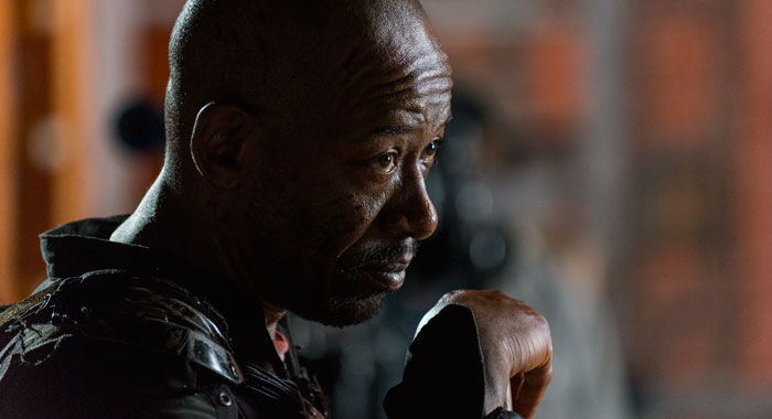 Lennie James as Morgan Jones - The Walking Dead _ Season 8, Episode 9 - Photo Credit: Gene Page/AMC