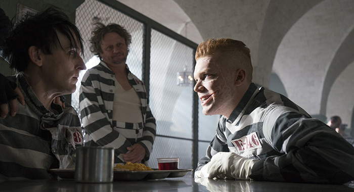 "Robin Lord Taylor and guest star Cameron Monaghan in the ""A Dark Knight: A Beautiful Darkness"" episode of GOTHAM (Barbara Nitke/FOX)"