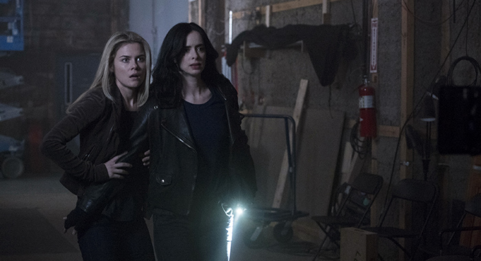Marvel's Jessica Jones season 2, Rachael Taylor and Krysten Ritter (David Giesbrecht/Netflix)