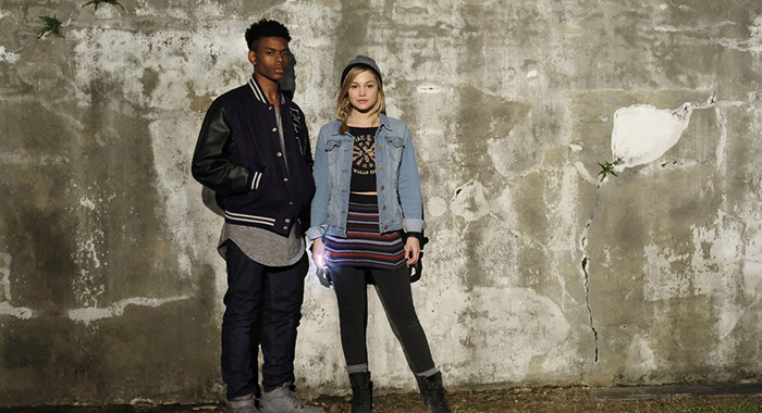 Marvel's Cloak and Dagger stars Aubrey Joseph and Olivia Holt (Freeform/Alfonso Bresciani)