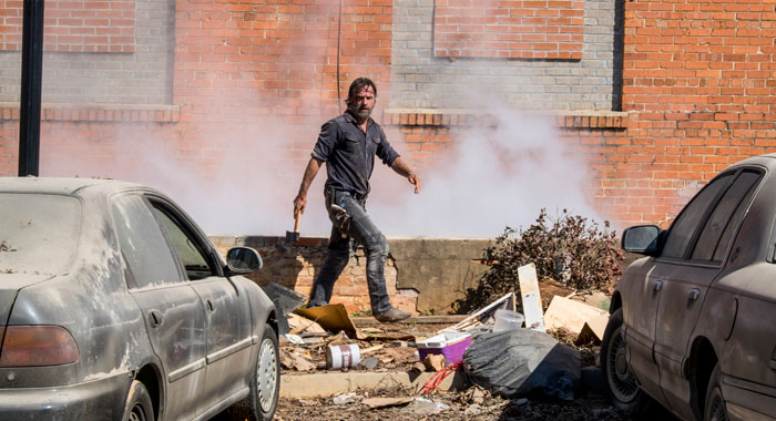 Andrew Lincoln as Rick Grimes - The Walking Dead _ Season 8, Episode 12 - Photo Credit: Gene Page/AMC