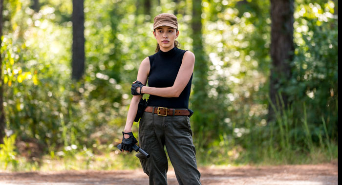 Christian Serratos as Rosita Espinosa - The Walking Dead _ Season 8, Episode 12 - Photo Credit: Gene Page/AMC