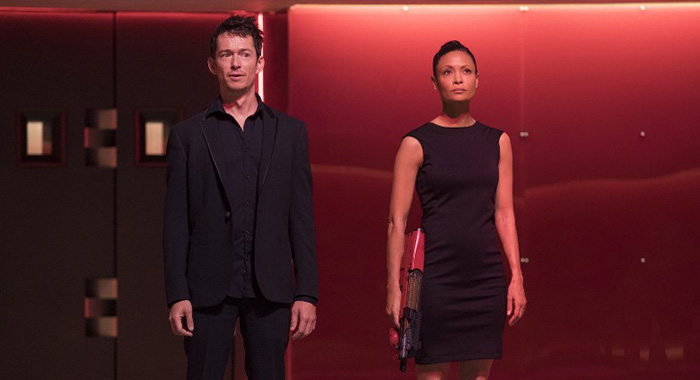 Simon Quarterman and Thandie Newton in Westworld season 2 (John P. Johnson/HBO)