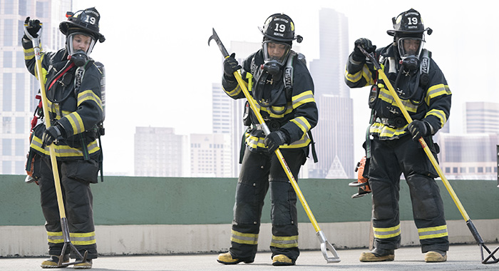 STATION 19 - JAY HAYDEN, BARRETT DOSS, JASON GEORGE (ABC/Mitch Haaseth)