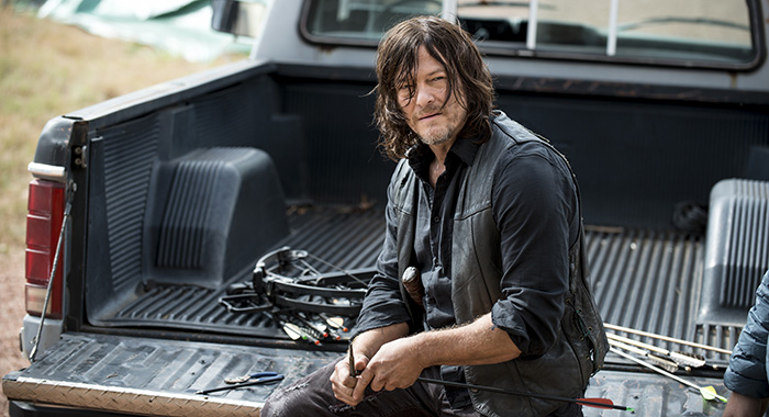 Norman Reedus as Daryl Dixon - The Walking Dead _ Season 8, Episode 14 (Norman Reedus as Daryl Dixon - The Walking Dead _ Season 8, Episode 14 - Photo Credit: Gene Page/AMC)