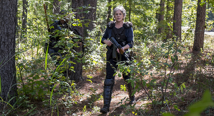 Melissa McBride as Carol Peletier, Lennie James as Morgan Jones - The Walking Dead _ Season 8, Episode 14 (Gene Page/AMC)