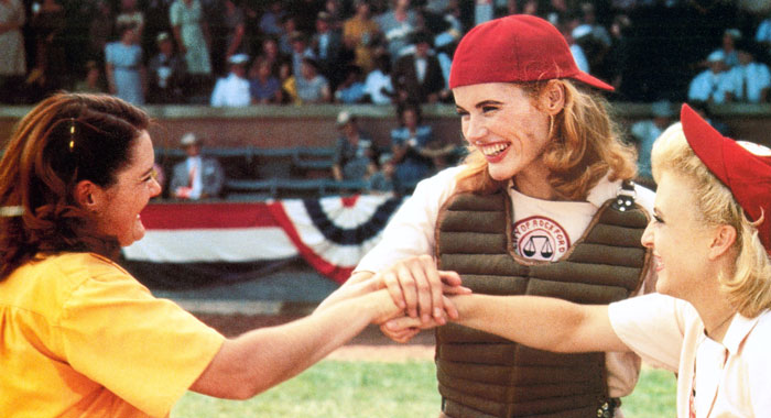 Geena Davis in A Legaue of Their Own (Columbia Pictures/courtesy Everett Collection)