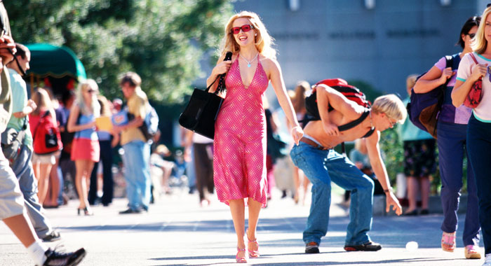 Reese Witherspoon in Legally Blonde (courtesy Everett Collection)