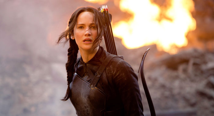 Jennifer Lawrence in The Hunger Games (Lionsgate/courtesy Everett Collection)