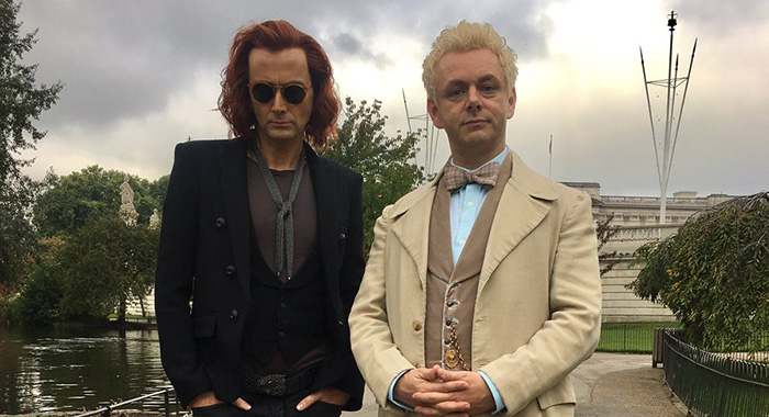 David Tennant and Michael Sheen in Good Omens (Neil Gaiman)