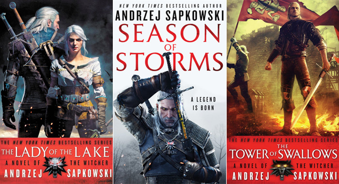 Witcher books by Andrzej Sapkowski (Hachette Book Group)