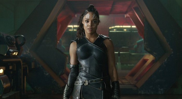 Tessa Thompson as Valkyrie in Thor: Ragnarok (Walt Disney Studios Motion Pictures/Marvel)