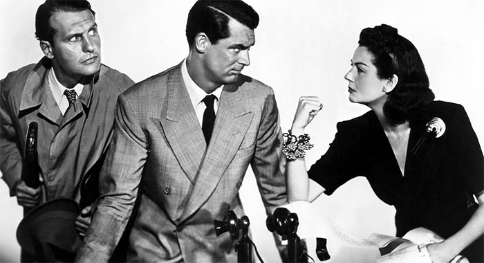 Rosalind Russell in His Girl Friday (Columbia Pictures/ Everett Collection)