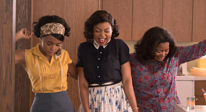 Janelle Monae, Taraji P. Henson, and Octavia Spencer in Hidden Figures (Fox 2000 Pictures)