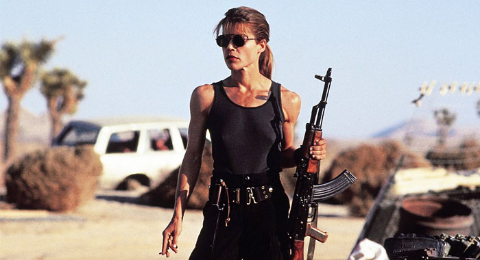 Terminator 2, Linda Hamilton as Sarah Connor (TriStar Pictures)