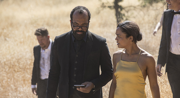 Westworld Episode 11 (season 2, episode 1), debut 4/22/18: Jeffrey Wright, Tessa Thompson. photo: John P. Johnson/HBO