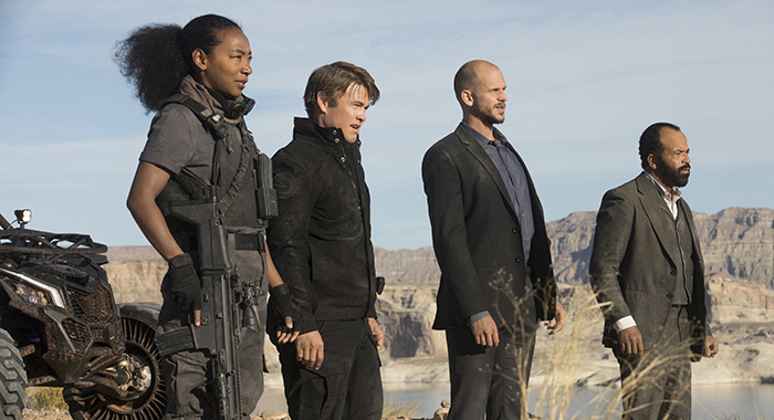 Westworld Episode 11 (season 2, episode 1), debut 4/22/18: Betty Gabriel, Luke Hemsworth, Gustaf Skarsgard, Jeffrey Wright. photo: John P. Johnson/HBO