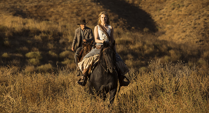 Westworld Episode 11 (season 2, episode 1), debut 4/22/18: James Marsden, Evan Rachel Wood. photo: John P. Johnson/HBO