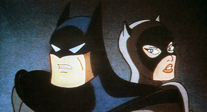 BATMAN: THE ANIMATED SERIES, (from left): Batman, Catwoman, 1992-95. © Warner Bros. / Courtesy: Everett Collection