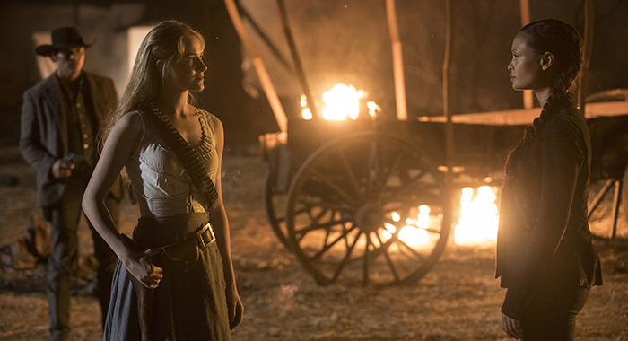 Westworld Episode 12 (season 2, episode 2), debut 4/29/18: Evan Rachel Wood, Thandie Newton. photo: John P. Johnson/HBO