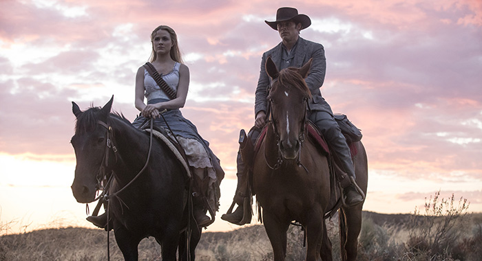 Westworld Episode 12 (season 2, episode 2), debut 4/29/18: James Marsden. photo: HBO Episode 12 (season 2, episode 2), debut 4/29/18: Ed Harris. photo: HBO Episode 12 (season 2, episode 2), debut 4/29/18: Evan Rachel Wood. photo: John P. Johnson/HBO Episode 12 (season 2, episode 2), debut 4/29/18: Evan Rachel Wood, Thandie Newton. photo: John P. Johnson/HBO Episode 12 (season 2, episode 2), debut 4/29/18: Evan Rachel Wood, James Marsden. photo: John P. Johnson/HBO