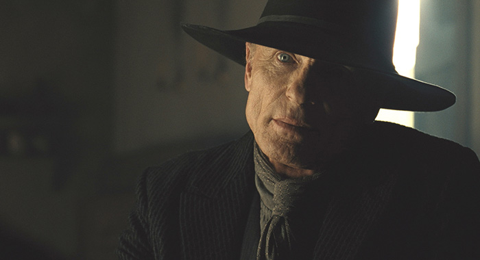 Westworld Episode 12 (season 2, episode 2), debut 4/29/18: Ed Harris. photo: HBO
