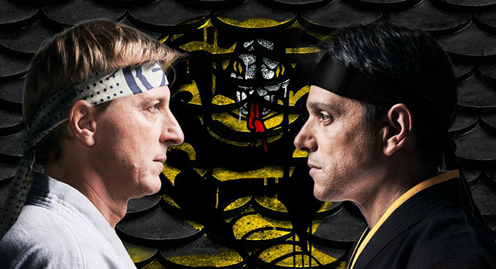 William Zabka and Ralph Macchio in art for Cobra Kai (YouTube Premium)