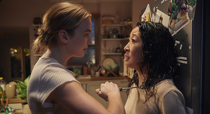 Killing Eve Villanelle (Jodie Comer) and Eve (Sandra Oh) (BBC America)