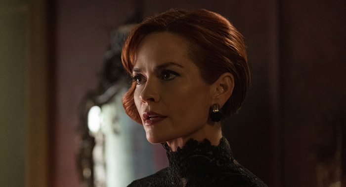"""Riverdale -- """"Chapter Twenty-Eight: There Will Be Blood"""" -- Image Number: RVD215b_0098.jpg -- Pictured: Nathalie Boltt as Penelope -- Photo: Katie Yu/The CW -- © 2018 The CW Network, LLC. All Rights Reserved."""