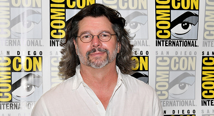 "SAN DIEGO, CA - JULY 20: Producer Ronald D. Moore at the ""Battlestar Galactica"" Reunion press line during Comic-Con International 2017 at Hilton Bayfront on July 20, 2017 in San Diego, California. (Photo by Dia Dipasupil/Getty Images)"