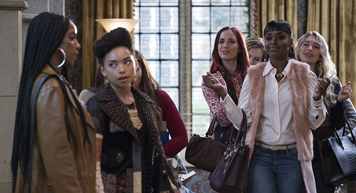 DEAR WHITE PEOPLE - PICTURED (Left to Right), Ashley Blaine Featherson, Logan Browning, Antoinette Robertson (PHOTO CREDIT Adam Rose/Netflix)