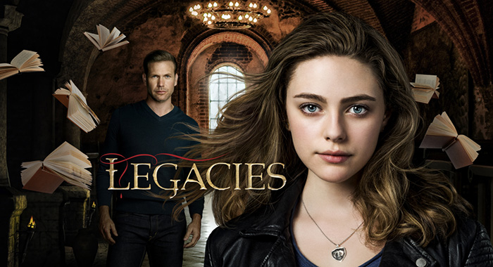 Legacies -- Image Number: LEC_PilotKeyArt_1.jpg -- Pictured (L-R): Matt Davis as Alaric and Danielle Rose Russell as Hope -- Photo: The CW -- 2018 The CW Network, LLC. All Rights Reserved