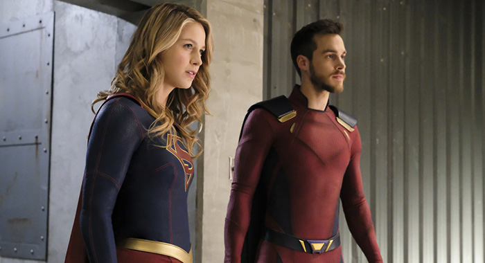 "Supergirl -- ""Shelter From the Storm"" -- Image Number: SPG318b_0149.jpg -- Pictured (L-R): Melissa Benoist as Kara/Supergirl and Chris Wood as Mon-El -- Photo: Bettina Strauss/The CW -- 2018 The CW Network, LLC. All rights reserved."