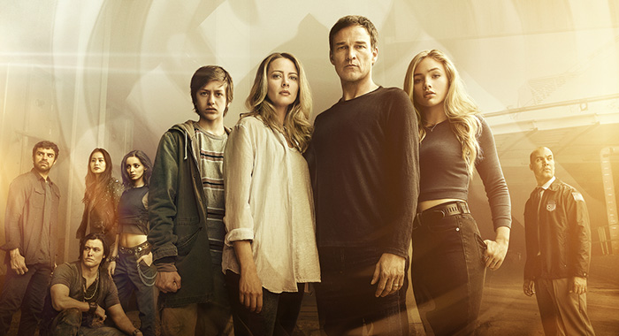 THE GIFTED: L-R: Sean Teale, Jamie Chung, Blair Redford, Emma Dumont, Percy Hynes White, Amy Acker, Stephen Moyer, Natalie Alyn Lind and Coby Bell in THE GIFTED premiering premiering Monday, Oct. 2 (9:00-10:00 PM ET/PT) on FOX. ©2017 Fox Broadcasting Co. Cr: Miller Mobley/FOX