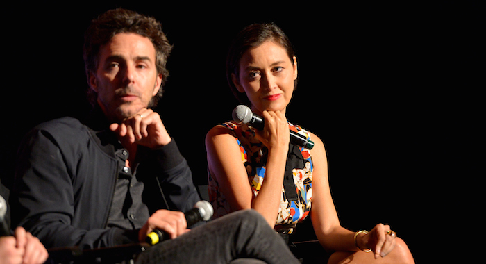 "LOS ANGELES, CA - MAY 19: Director Shawn Levy and Casting Director Carmen Cuba speak onstage at The ""Stranger Things 2"" Panel At Netflix FYSEE on May 19, 2018 in Los Angeles, California. (Photo by Charley Gallay/Getty Images for Netflix) *** Local Caption *** Shawn Levy; Carmen Cuba"